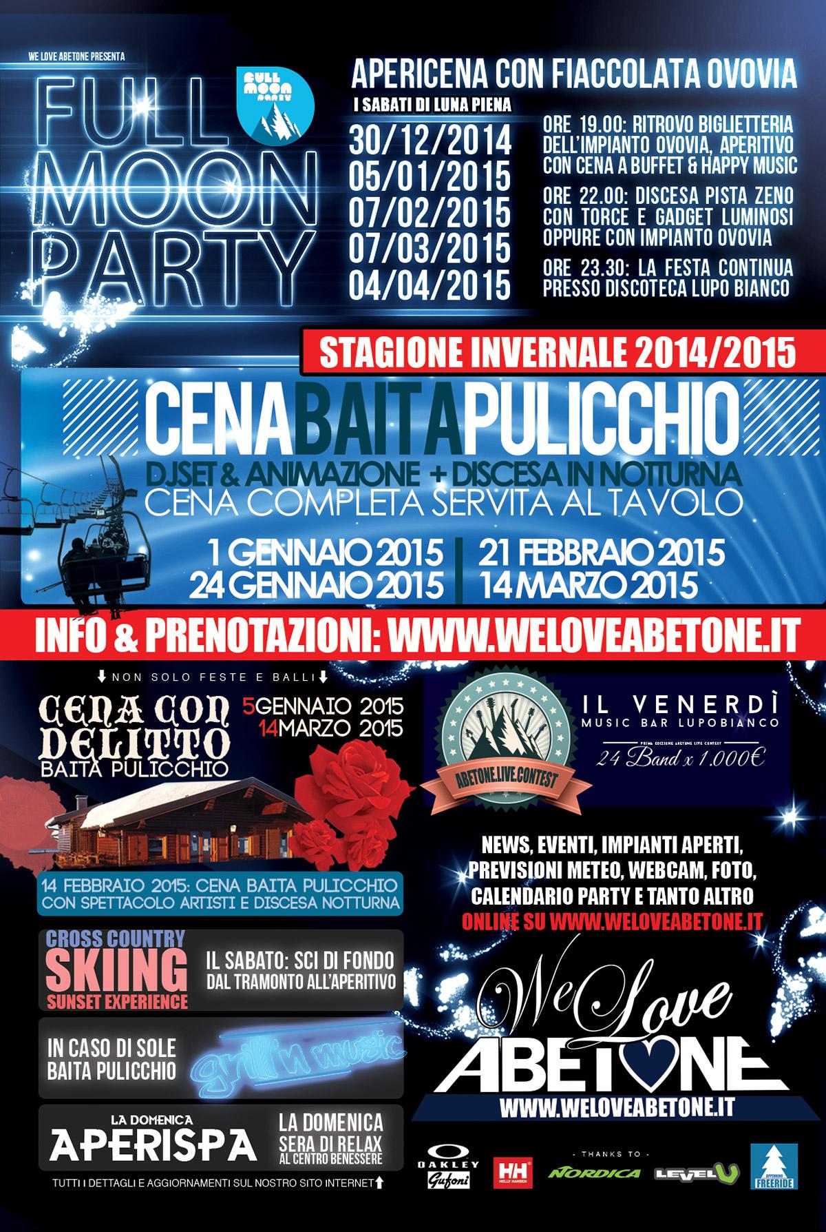 eventi abetone stagione 2015