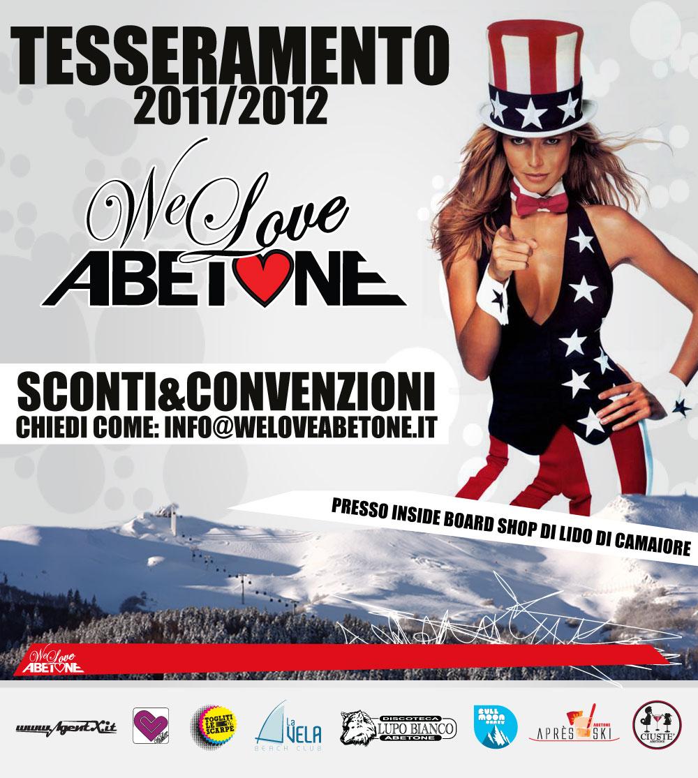 tesseramento we love abetone 2012