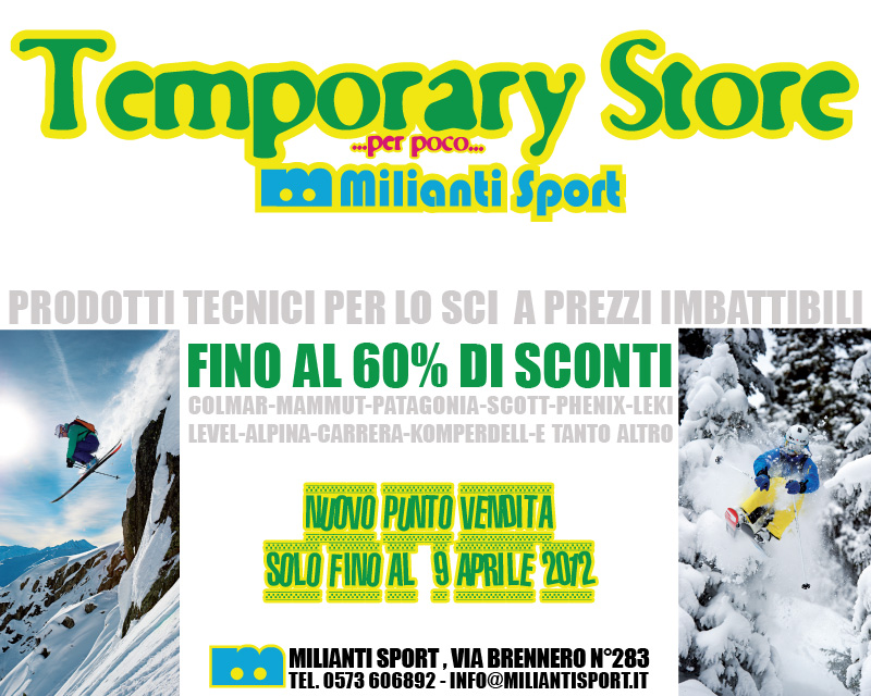milianti temporary store we love abetone 2012