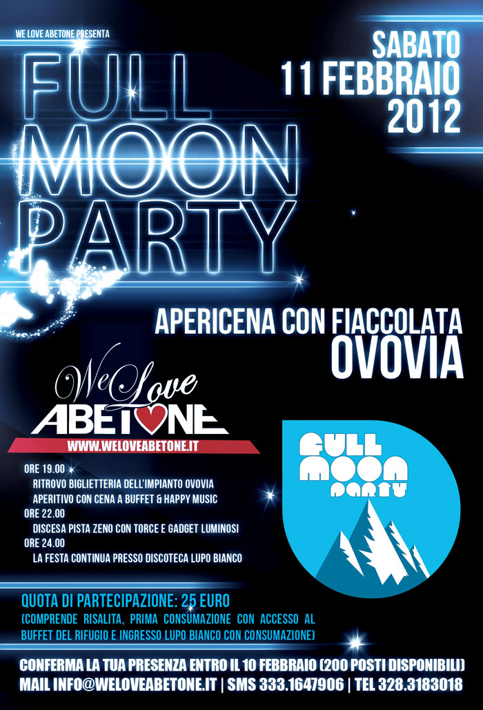 full moon party we love abetone 2012