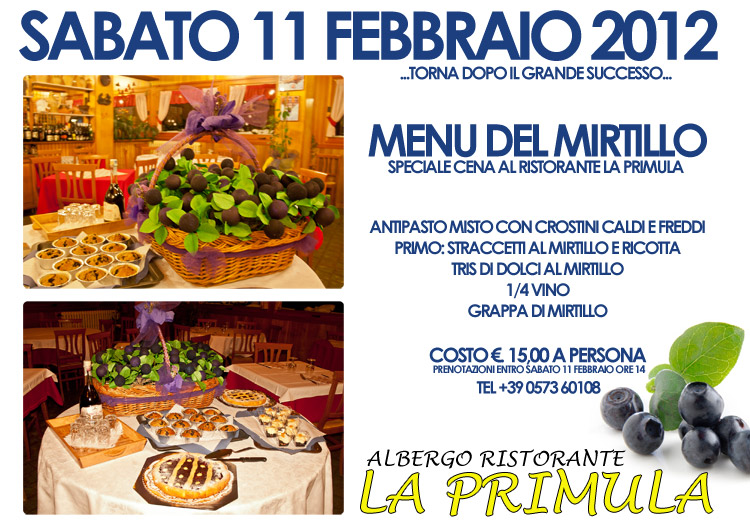 menu mirtillo abetone