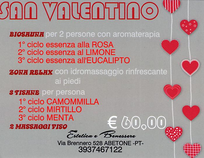 Estetica e Benessere Nadia Petrucci all\u0027Abetone, presenta l\u0027offerta di San  Valentino