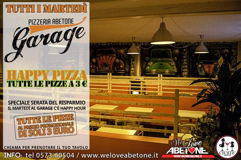 Le promozioni del garage il marted happy pizza e for Prezzo del garage 16x20