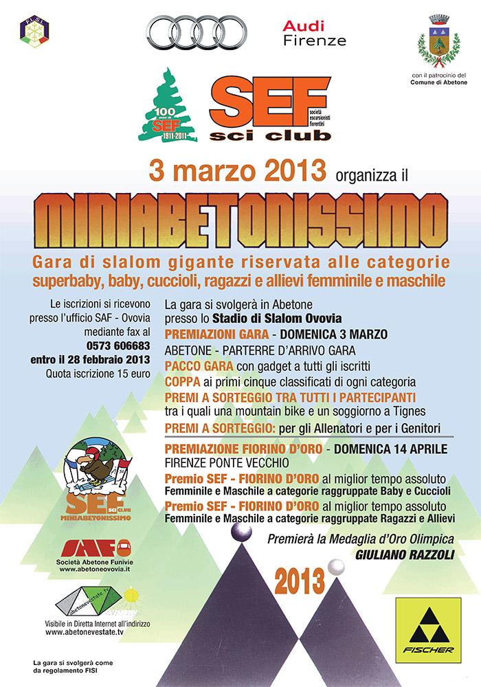 miniabetonissimo we love abetone 2013