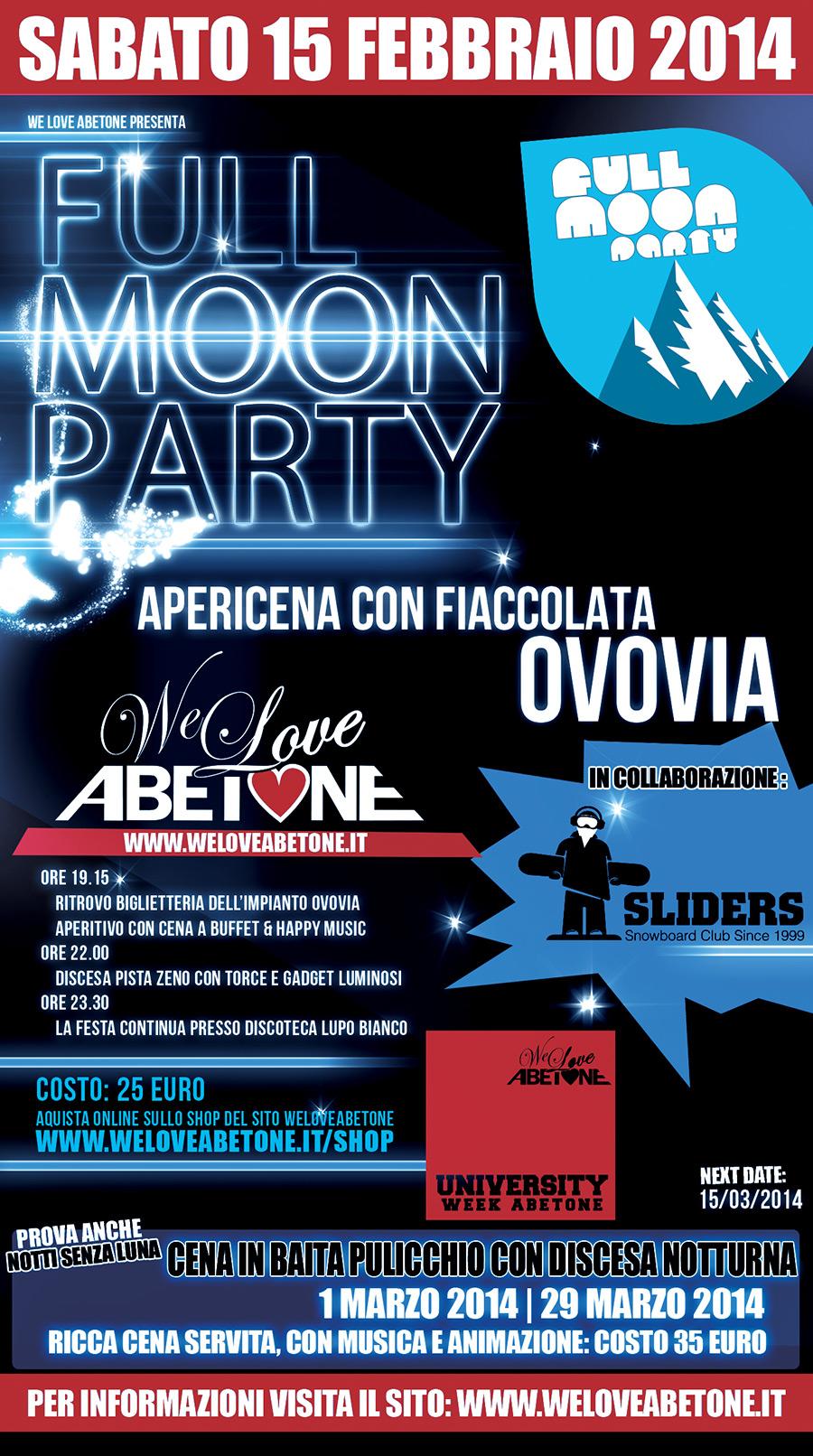 full moon party we love abetone 2014