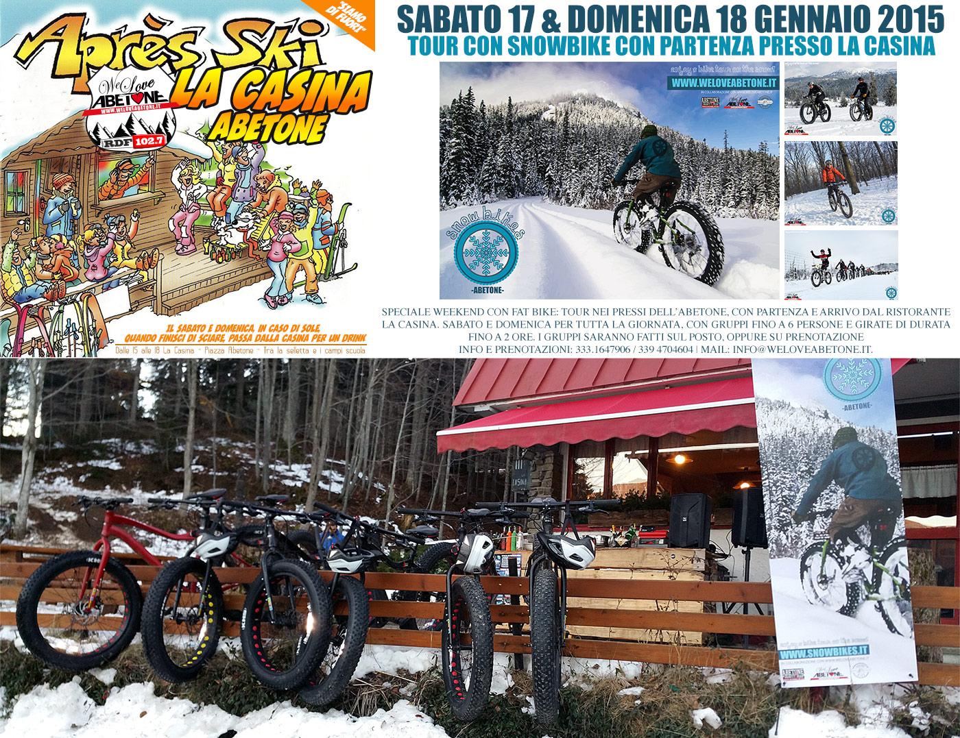 Weekend 17 U002618 Gennaio 2015  Snowbike  Apres Ski