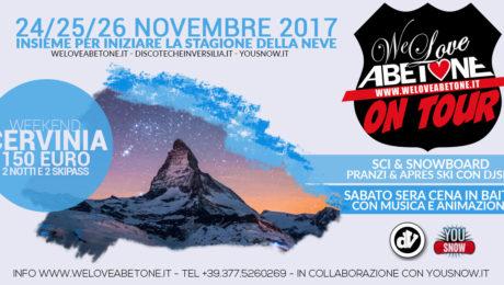Abetone on tour a Cervinia, novembre 2017
