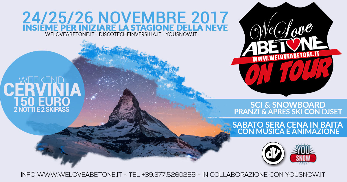Abetone on tour a Cervinia, novembre 2017