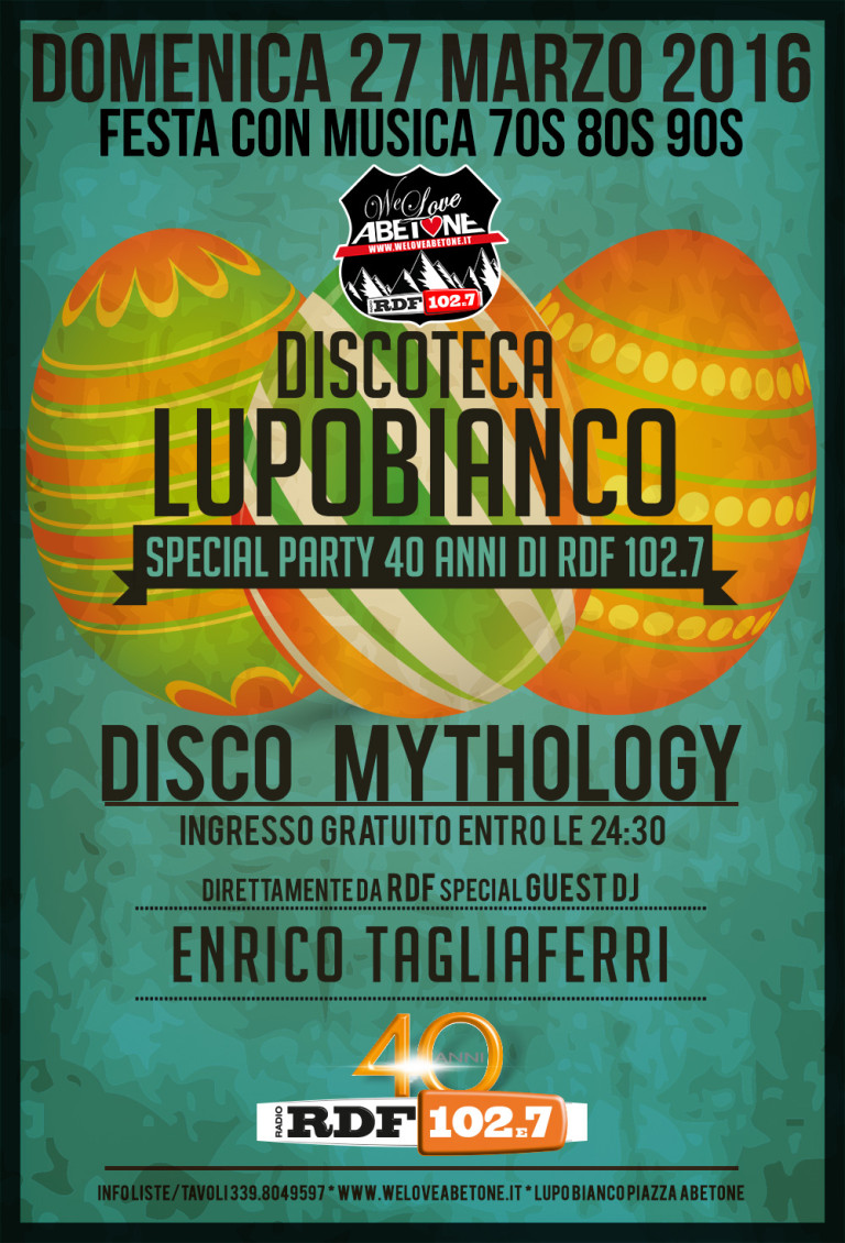 Special Night Discoteca LupoBianco 70 & 80 Party