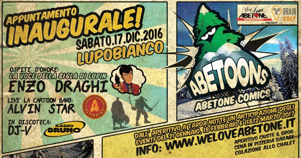 Abetoons - L'anteprima 17 Dicembre 2016 - Festa d'Apertura di Abetone Comics