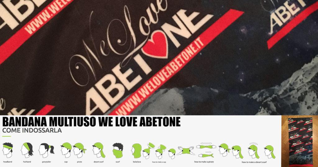 Nuove Bandane multiuso We Love Abetone