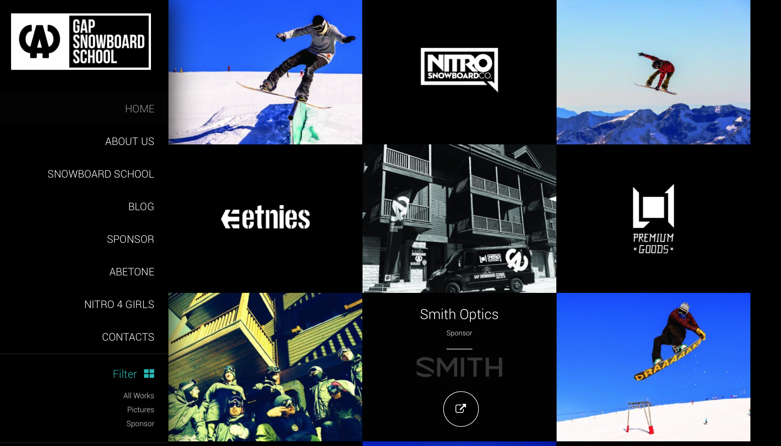 gap snowboard abetone