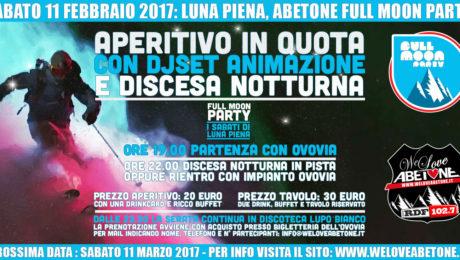 abetone full moon party 11 febbraio 2017