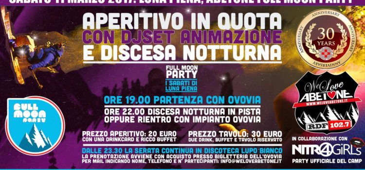 abetone full moon party 11 marzo 2017