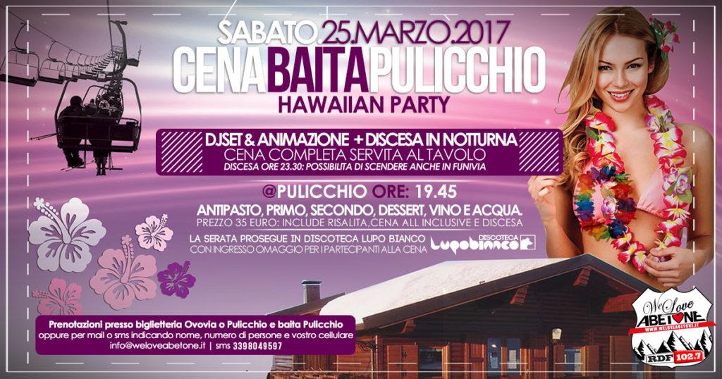 Cena Baita Pulicchio Abetone con discesa notturna - Hawaiian Party