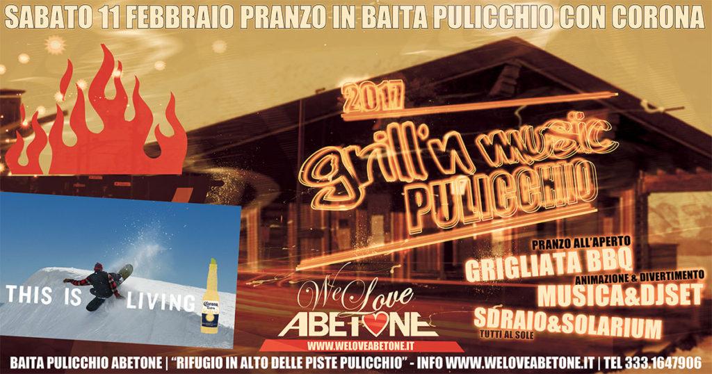 Grill'n Music con birra Corona in Baita Pulicchio Abetone