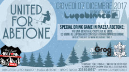 "Special One Night Discoteca LupoBianco! 7 Dicembre ""United for Abetone"""