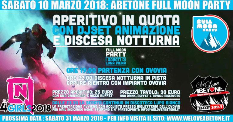 Full Moon Party Abetone: 10 Marzo 2018, Monte Gomito