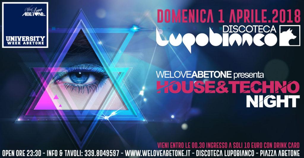 House e Techno Night Abetone, Domenica 1 Aprile Discoteca LupoBianco