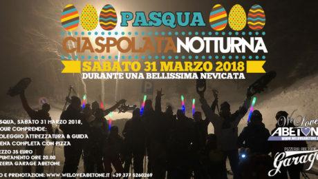 pasqua 2018 ciaspolata notturna abetone