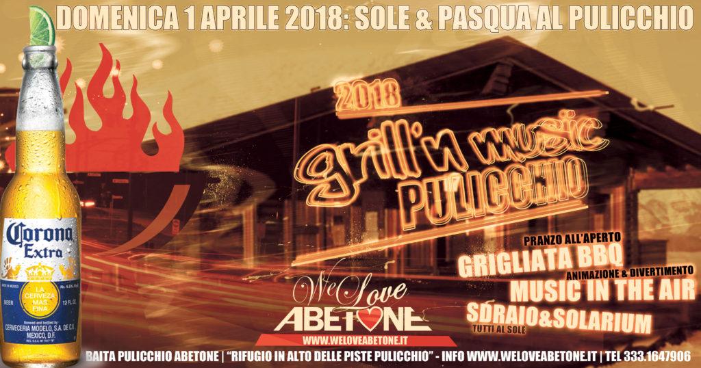 Domenica 1 Aprile 2018: Grill'n'Music Baita Pulicchio assieme a Birra Corona