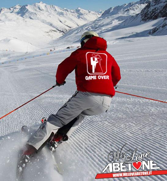 Addio al celibato e nubilato sulla neve in Montagna