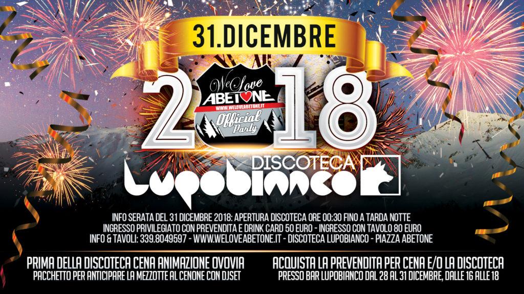 Capodanno 2019 Abetone in Discoteca LupoBianco