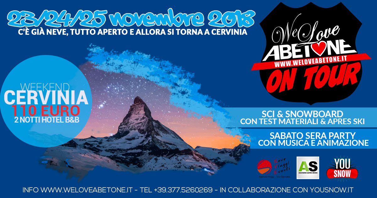 cervinia abetone on tour 2018