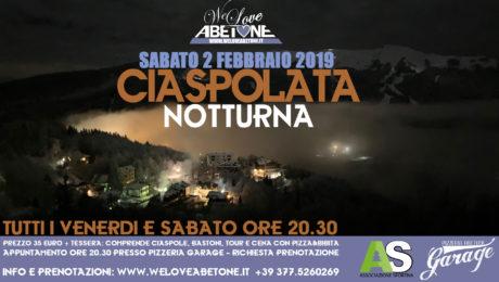 ciaspolata notturna abetone 2019