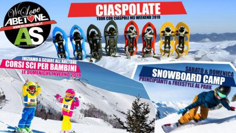 ciaspole sci snowboard abetone