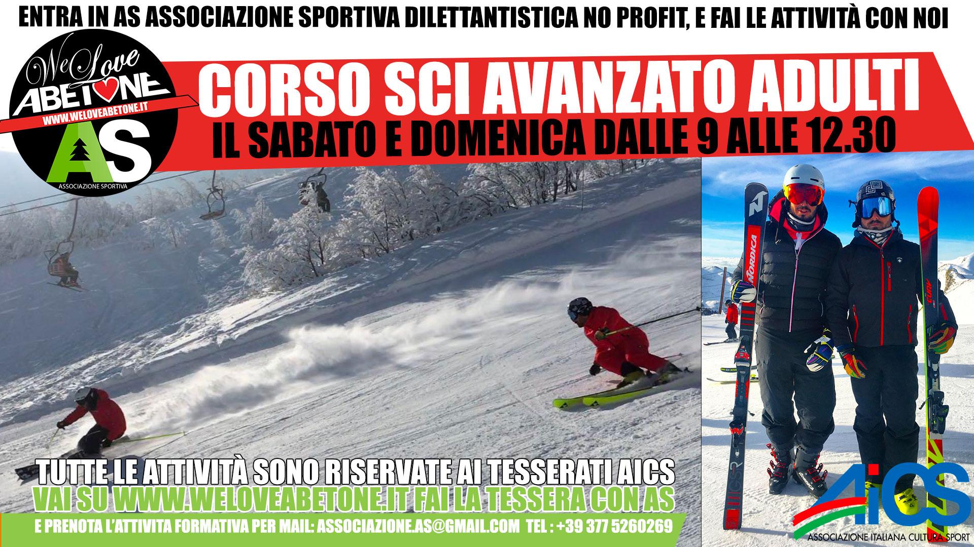 corso sci avanzato adulti