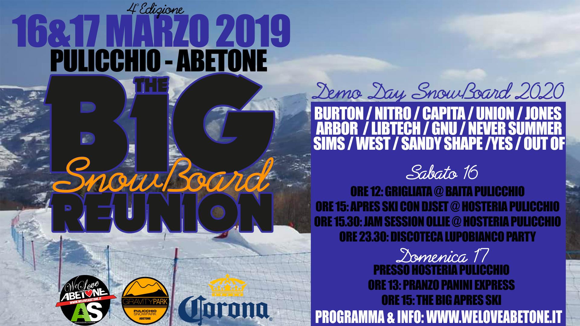 big snowboard reunion 2019 abetone Pulicchio