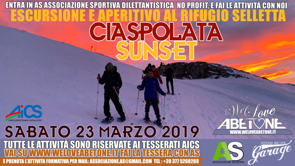 Ciaspolata Sunset selletta: Tramonto e Aperitivo all'Abetone