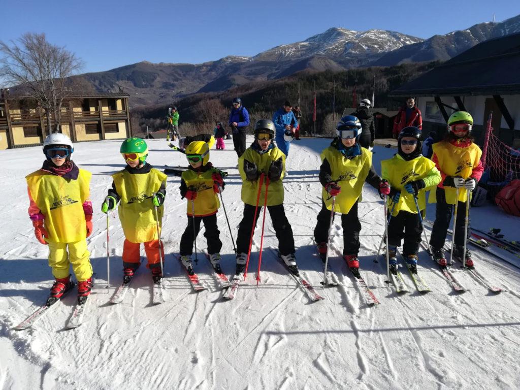 corso sci abetone club bambini ragazzi