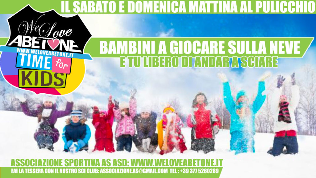 time for kids abetone bambini pulicchio