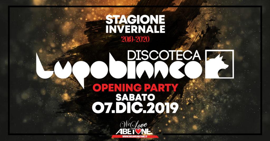 Opening Party Disco Lupo Bianco: Stagione 2019/2020 ad Abetone