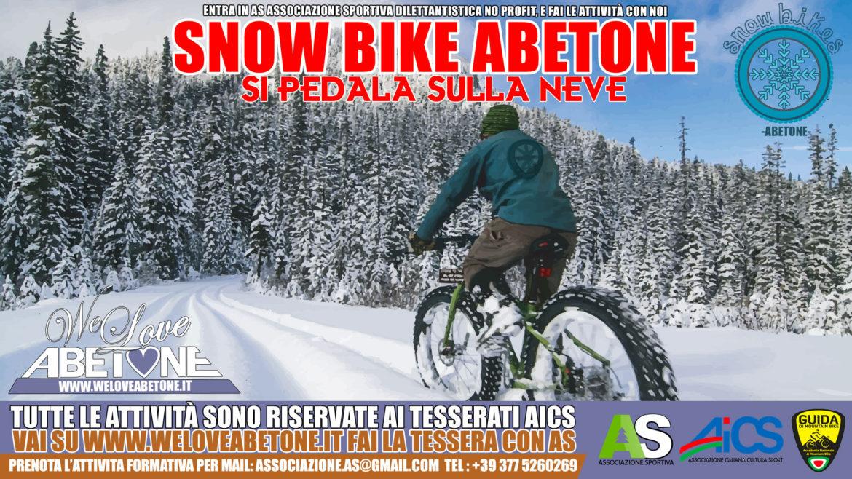 Snowbike abetone Mtb fat bike
