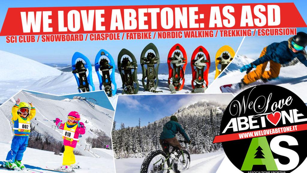 We Love Abetone, l'associazione sportiva: SciClub, Snowboard, Ciaspole, eMtb, Nordic Walking, Gite ed Escursioni!