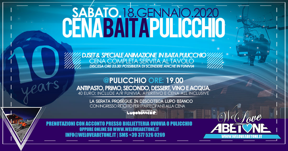 cena Baita Pulicchio 2020