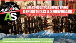 Deposito Sci e Snowboard al Pulicchio con We Love Abetone