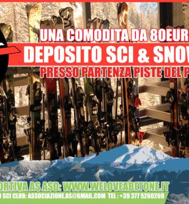 deposito sci snowboard abetone