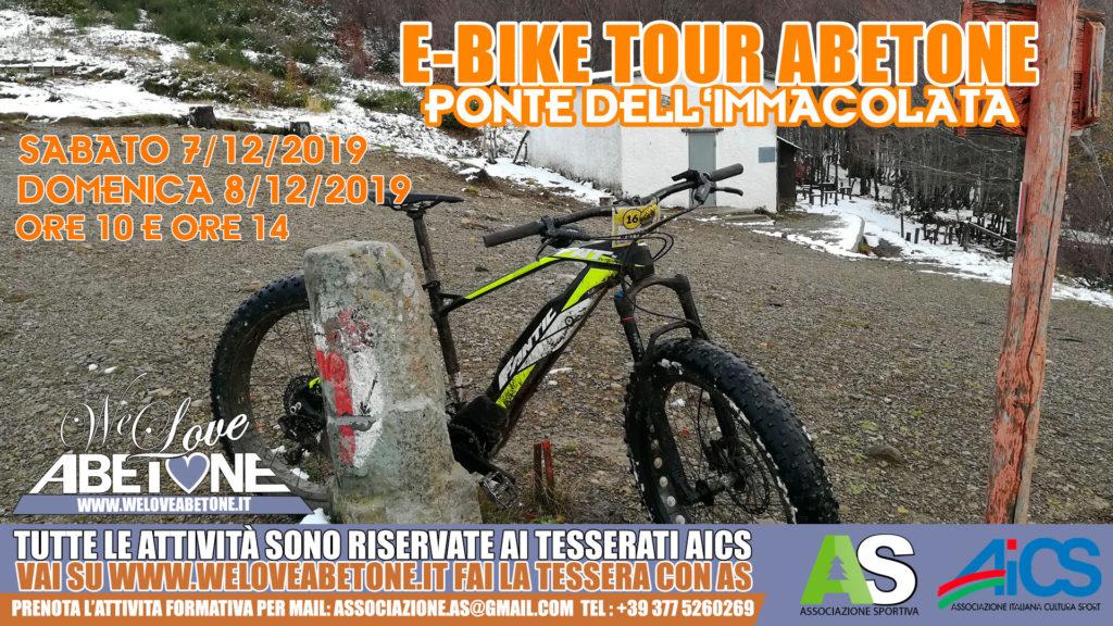 Ebike Tour Abetone: Mud&Dirt Edition. Ponte dell'immacolata, le Bici Mtb Elettriche a pedalata assistita in appennino!