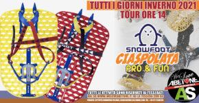 Ciaspolata Pro&Fun di 2 ore con SnowFoot, tutti i giorni ore 14 ad Abetone